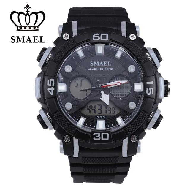 Men Quartz Outdoor Multifunctional Luminous SMAEL Watches Dult Waterproof Sports Leisure Man Electronic 50m Waterproof 1317
