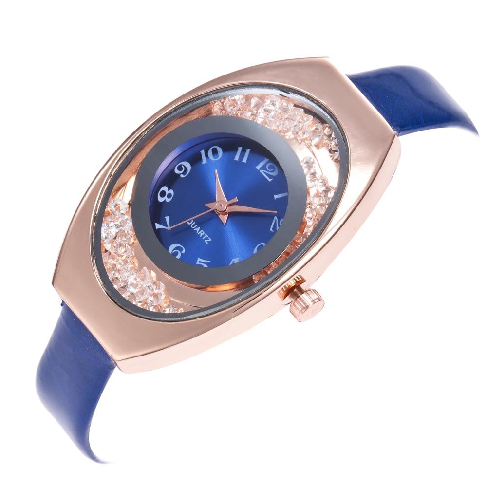 2018 New Arrival Fine Leather strap Watchband Elliptical Ball Quartz Watch Fashion Reloj para mujer Women