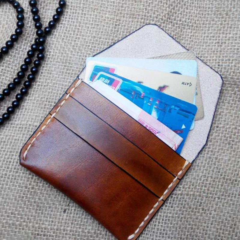 Top Cow Leather Coin Purse Men Handmade Mini Wallet Retro Small Purse for Coins Genuine Leather Coin Wallet Card Organizer