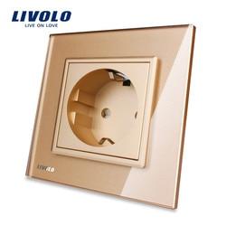 Free shipping livolo eu standard power socket golden crystal glass panel ac 110 250v 16a wall.jpg 250x250