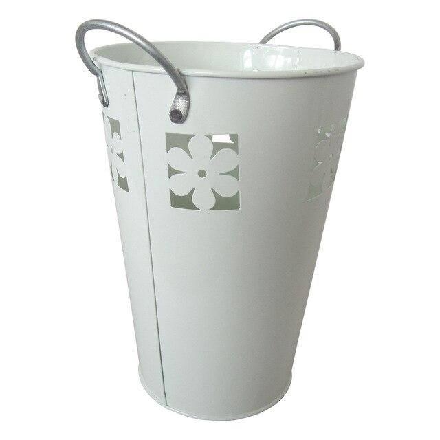 Großhandel D14XH12CM Pure White Metall Künstliche blumenvase ...