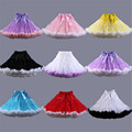 2016 Tutu Multi Color Petticoats Tulle Underskirt Short Skirts for Wedding Dress Crinoline Jupon Saia Women Skirt In Stock
