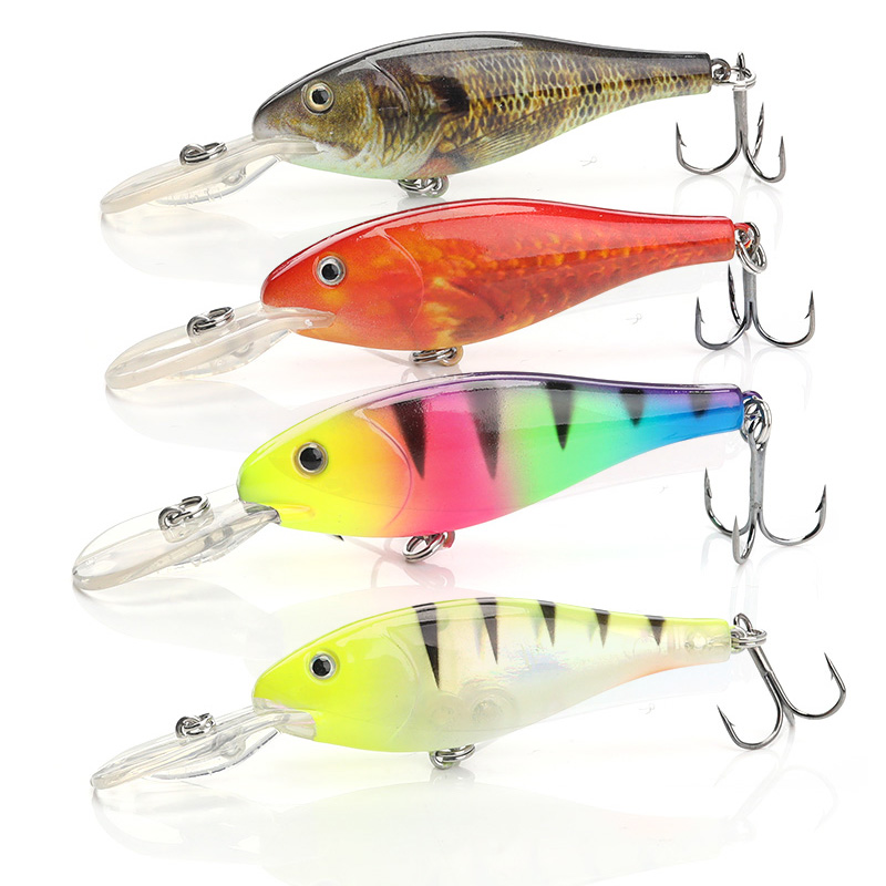 Image 5 - TREHOOK Floating Wobbler Deep Diving Crankbait Fishing Lure 9cm 9g Hard Bait With #6 Hooks isca Artificial Fishing Tackle Lure-in Fishing Lures from Sports & Entertainment