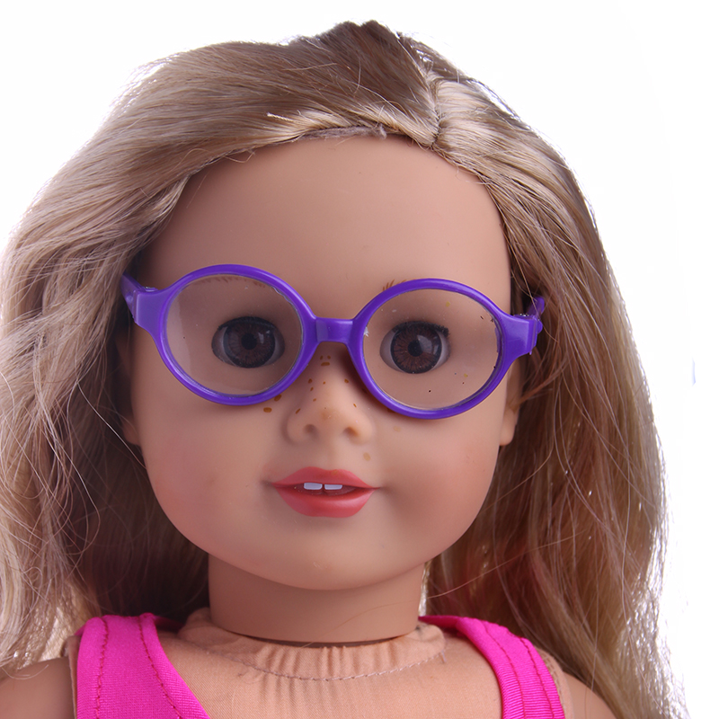 Simple Fashion Glasses Fit For American Girl font b Doll b font 18 inch American Girl