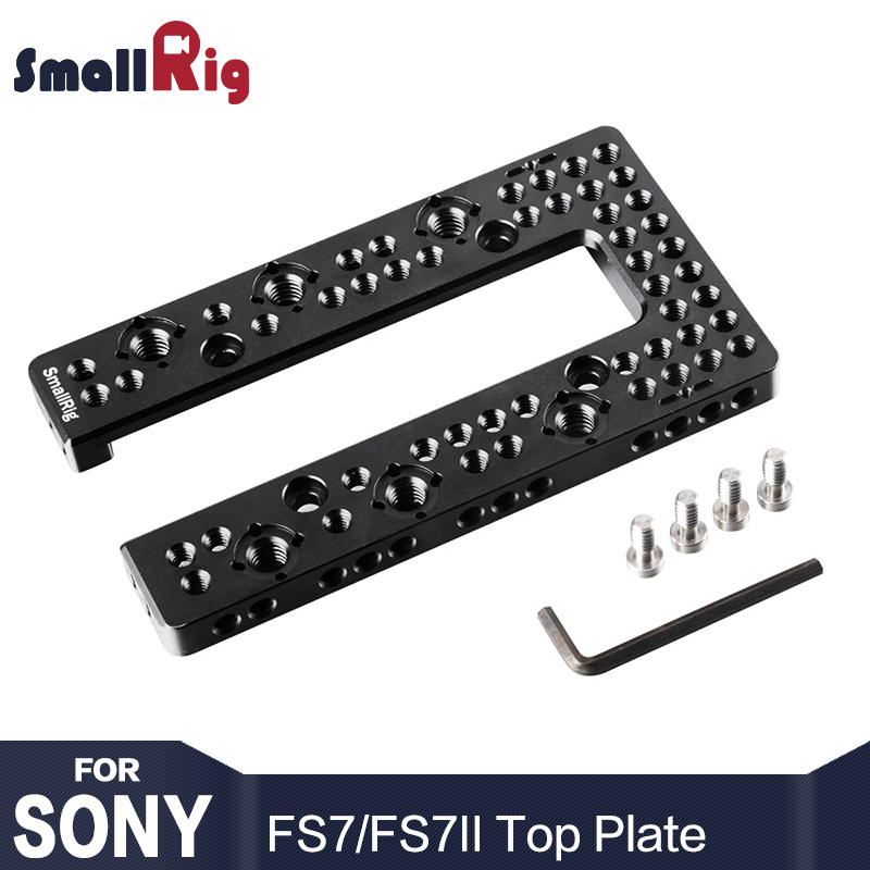 SmallRig Top Mount Plate for FS7 / FS7II U-Shape Plate Compatible with FS7 Original Handle With 1/4 3/8 Screw Holes - 1975