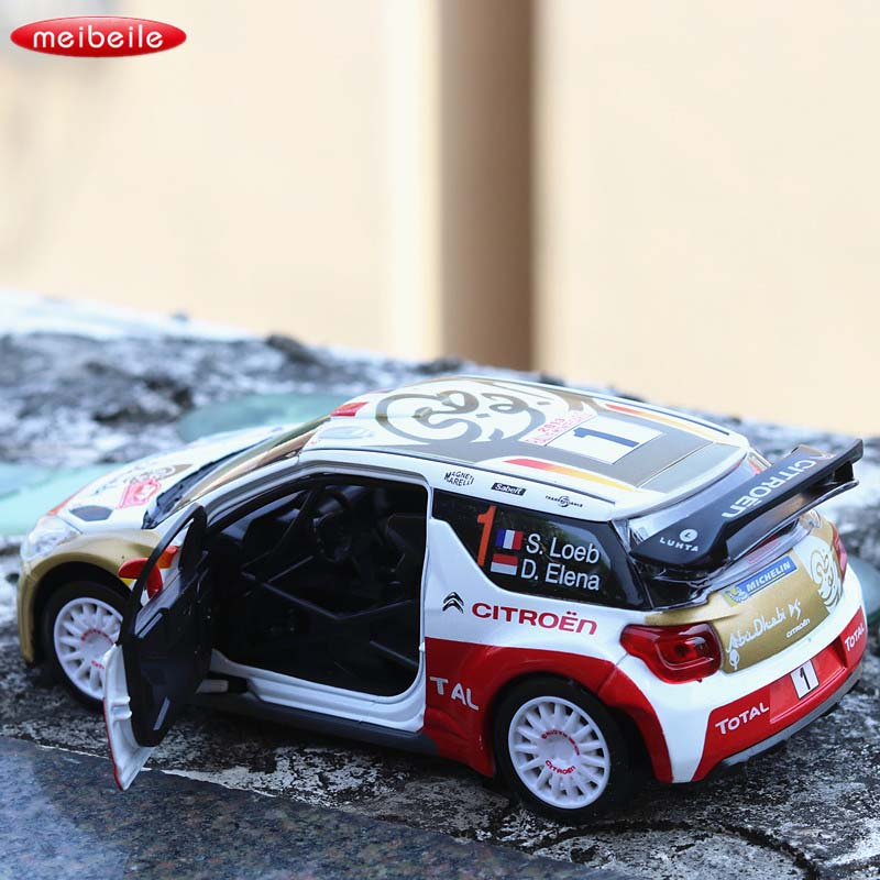 1:26 Double Horses Citroen ds3 Alloy Diecast Car Model Pull Back Toy Car model Electronic Car Kids Toys Gift Free Shipping 2018 new mini toy car rc car baby children car gift cheap toy diecast metal alloy model toy car kids gift