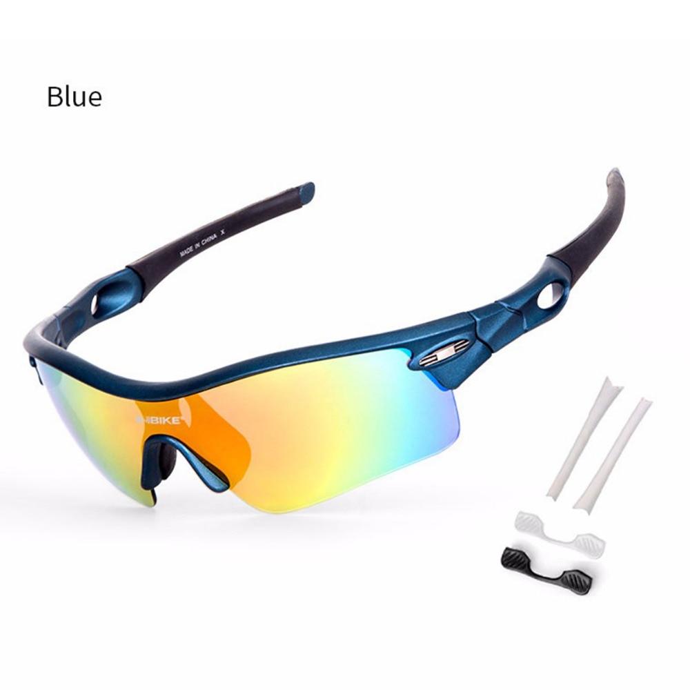 Bike Glasses Cycling Eyewear 5 Lens Detachable UV400 Goggles Bicycle Sunglasses Sports Skiing Fishing Travel Anti-slip Glasses