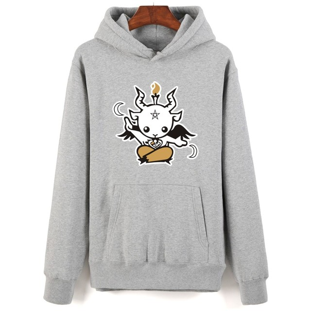 7a8fae155f15 Satan Printing Cartoon Hoodies Men Hip Hop And Hooded New Brand Sweatshirt  Men Clothes Fashion Autumn Style with 4 colors