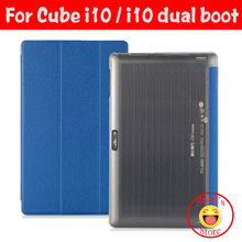 "Pu case voor 10.6 ""voor Cube i10 quad core PC, Voor Cube i10 dual boot case, Voor Cube i10 dual boot Cover gratis screen film(China)"