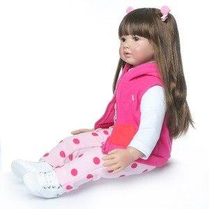 Image 4 - 60CM NPK Boneca Reborn 24inch Soft Silicone Vinyl Doll 60cm Soft Silicone Reborn Baby Doll Newborn Lifelike Bebes Reborn Dolls