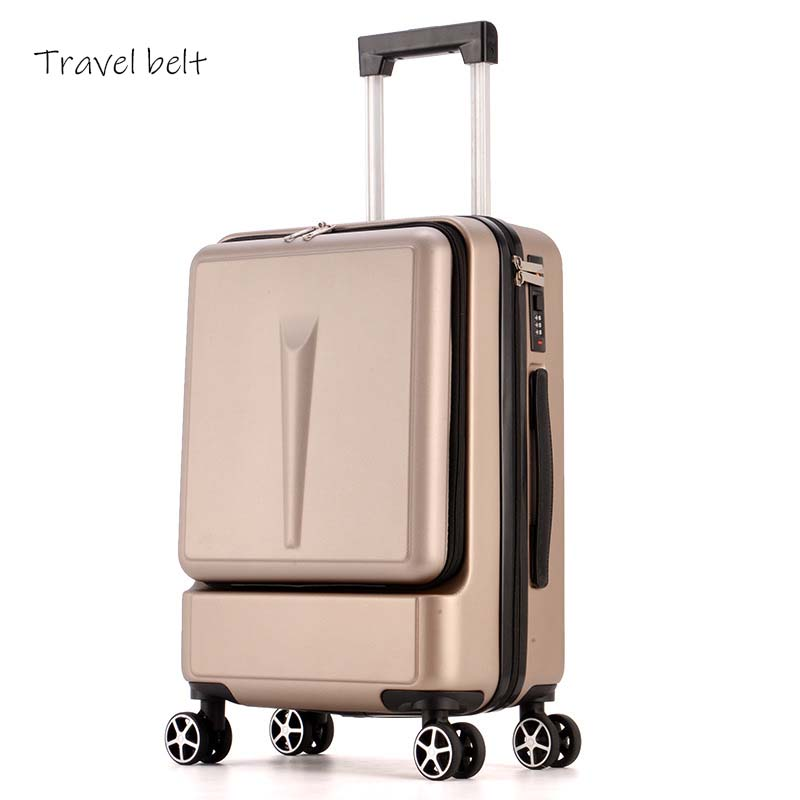 Travel Belt Flip cover, computer  Rolling Luggage Spinner 20inch Men Business Travel Bags Women Cabin Suitcase Wheels TrolleyTravel Belt Flip cover, computer  Rolling Luggage Spinner 20inch Men Business Travel Bags Women Cabin Suitcase Wheels Trolley