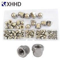 Hex Acorn Cap Nut Metric Thread Hexagon Decorative Cover Semicircle Nut 304Stainless Steel Set Assortment Kit M3 M4 M5 M6 M8 M10 цены