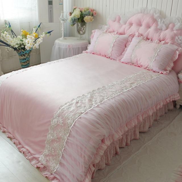 € 124.42 |Chaud textile rose peluche courte literie ensemble doux lisse  décoration de mariage literie Broderie housse de couette romantique dans ...