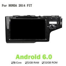 Octa 8 Core RAM 2G ROM 32G Android 6.0 For Honda 2014 FIT Car DVD Player GPS Navi Support 4G DAB+ TPMS Mirror link