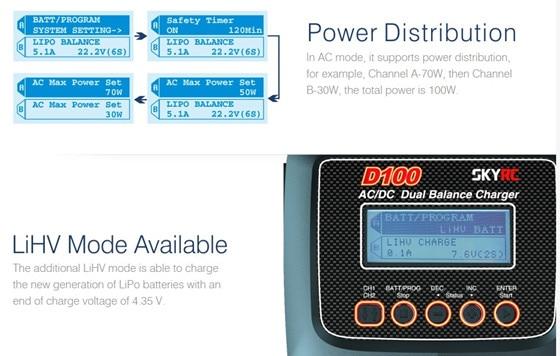 skyrc d100 power distribution