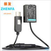 5 V USB NP-FW50 Dummy Batterie NP FW50 Gefälschte Batterie AC-PW20 Externe Netzteil Adapter für Sony DSC-RX10 DSC RX10 RX10 II III