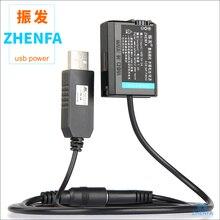 Batería simulada NP FW50 NP FW50 USB de 5V, AC PW20 de batería falsa, adaptador de fuente de alimentación externa para Sony DSC RX10 DSC RX10 RX10 II III