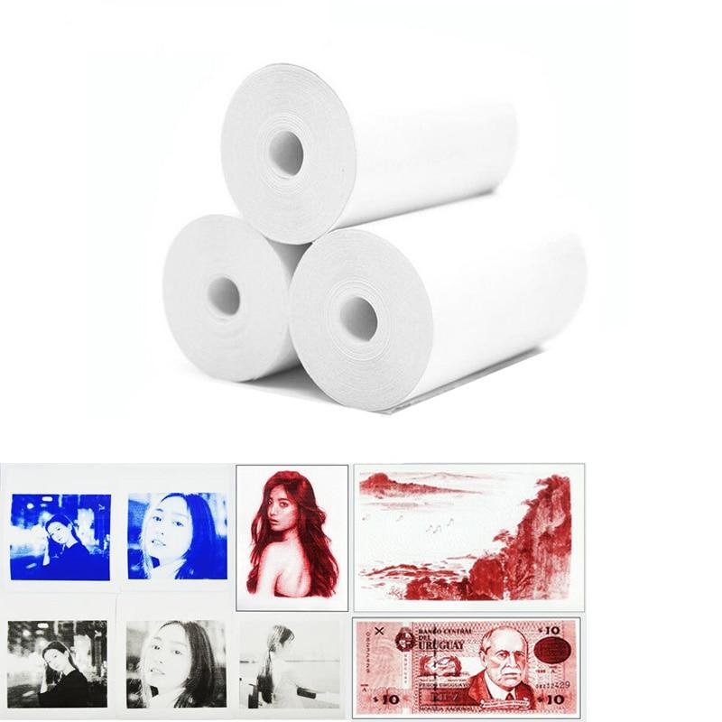 NEW PAPERANG MEMOBIRD Color Printing Paper Print Show Blue Red Black 57*30 Thermal Photo Printing Paper 3 Volumes Send