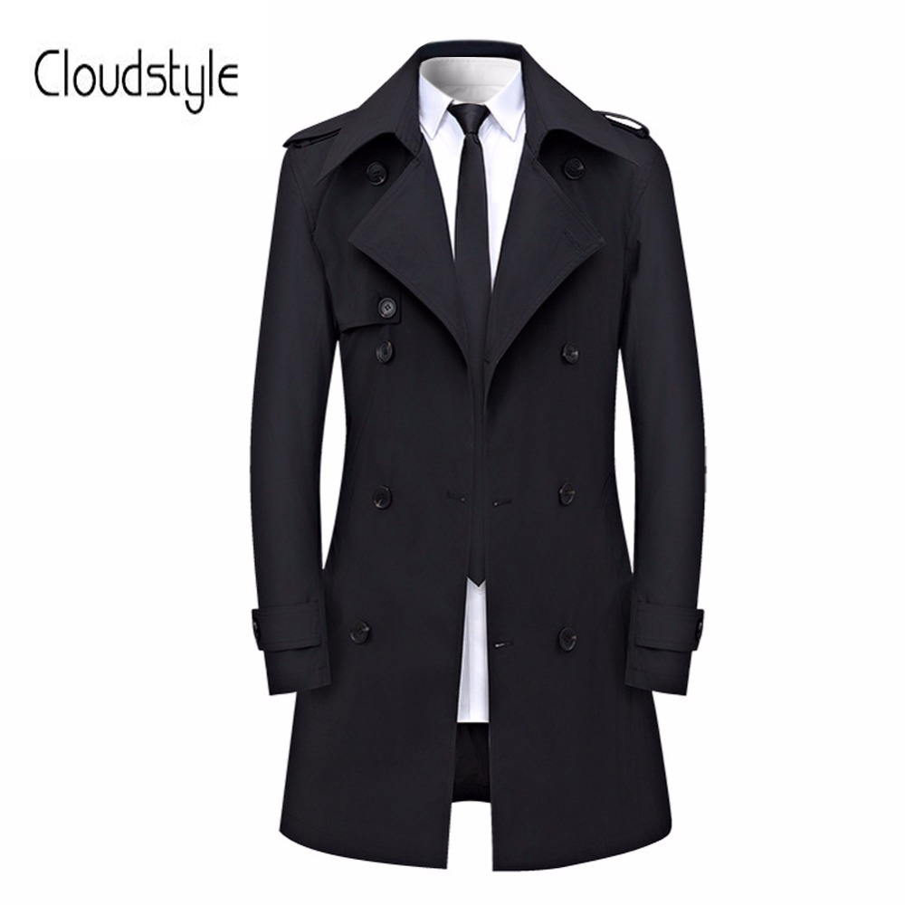 Cloudstyle 2018 Plus Size 4XL Male Dust Coat Fashion Single Breasted Long Jacket Men Casual Slim Fit   Trench   Men Young Overcoat