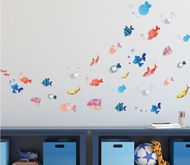 Free Shipping Finding Nemo Under Sea Shark Fish 3d Cartoon Waterproof Vinyl Wall Decals Stickers