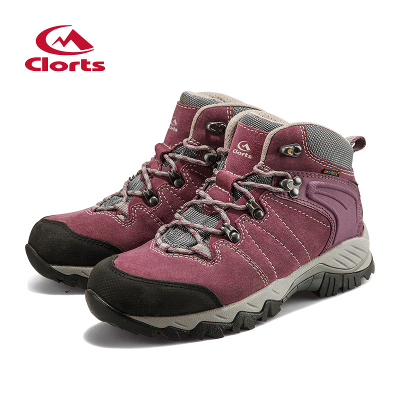 2016 Clorts Women Outdoor Shoes HKM-822B/C/E/F Woman Trekking Hiking Shoes Breathable Hiking Boots Camping Sneakers Shoes yin qi shi man winter outdoor shoes hiking camping trip high top hiking boots cow leather durable female plush warm outdoor boot
