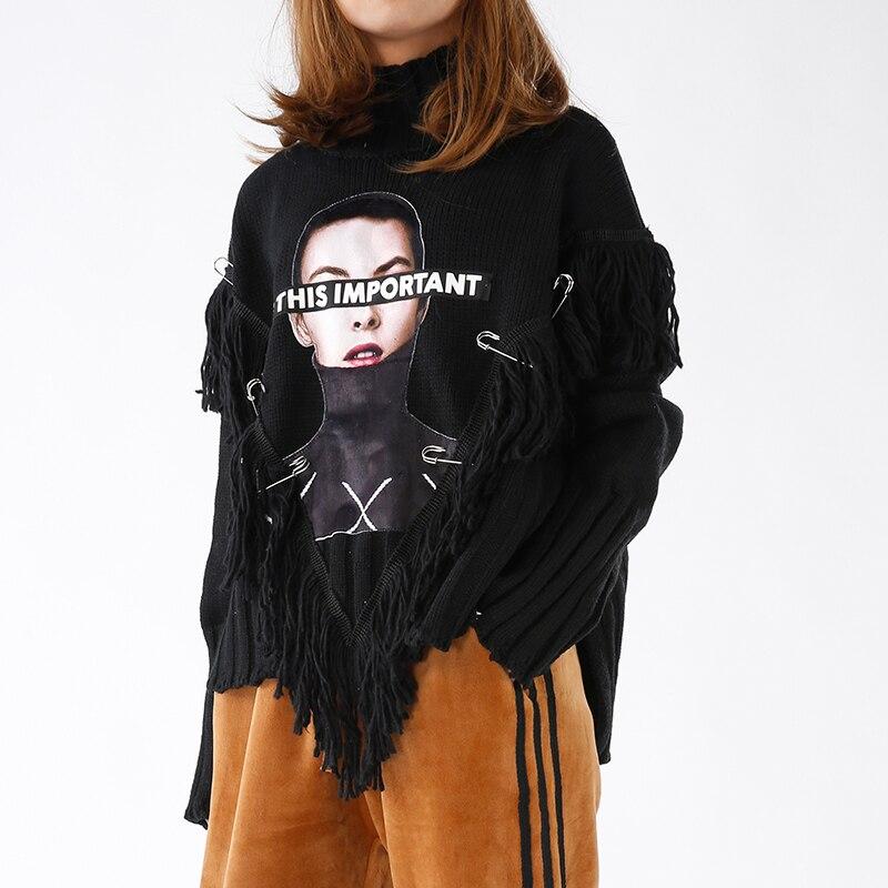 Melinda Style Motif Longues Gland Lettre Nouvelles Chandail Mode Décoré Manches Lady De Livraison Tricoté Gratuite Femmes 2017 rrnqOPSdF