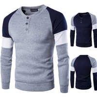 Zogaa 2019 Nuovo degli uomini Rotondi del Collare Casual T-Shirt Stampa Vestiti di Marca Degli Uomini Manica Lunga T-Shirt Rappezzatura del Cotone T degli Uomini della camicia