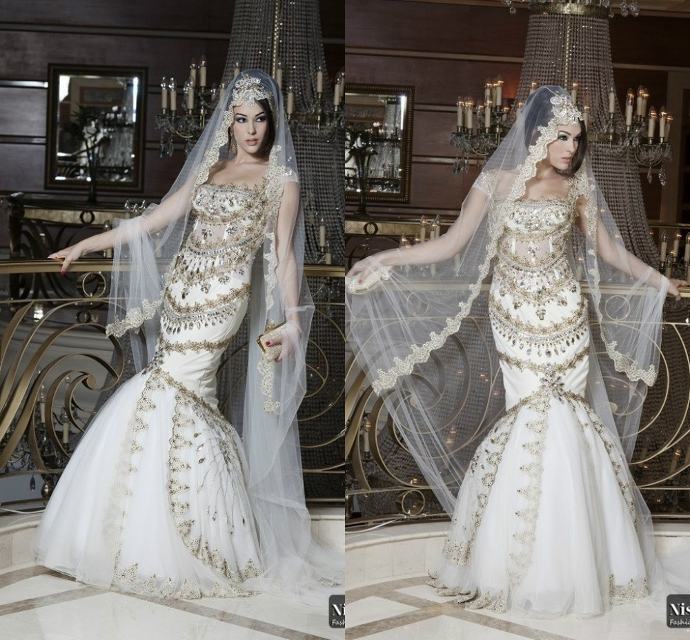 Luxury arabic style muslim wedding dresses beads crystal luxury arabic style muslim wedding dresses beads crystal fashionable dress bride romantic vestidos de noiva robe de mariage in wedding dresses from weddings ombrellifo Image collections