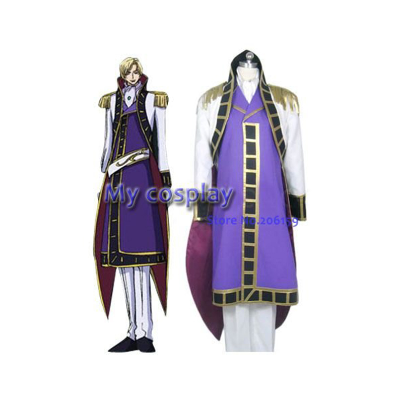 Anime Costumes The Best Anime Code Geass Cosplay Clothing-code Geass Cosplay Schneizel El Britannia Cosplay Costume Mens Party Costume Free Shipping Beautiful In Colour Costumes & Accessories