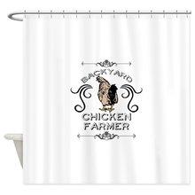 Our House Backyard Chicken Farmer Decorative Fabric Shower Curtain Set and Floor Mat Non-slip Doormat Rug