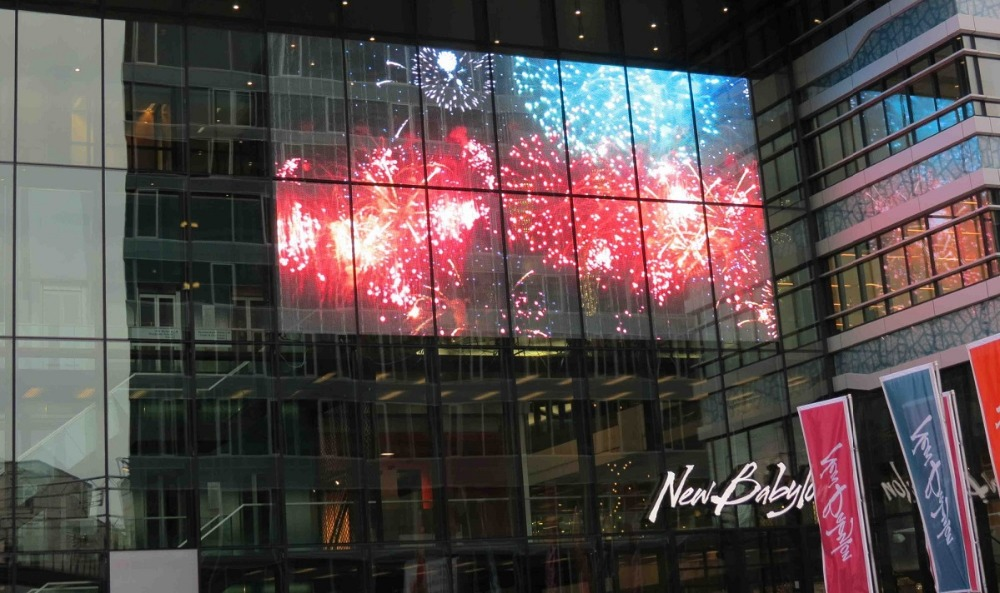 Online buy wholesale transparent led screen from china for Exterior led screen