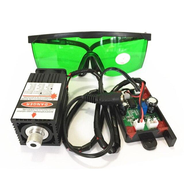 Darmowa wysyłka 1 zestaw 1 w 450nm 445nm 1000 mw grawerowanie laserowe DC12V z możliwością ustawiania ostrości moduł lasera niebieskiego z TTL dla DIY 3D drukarki
