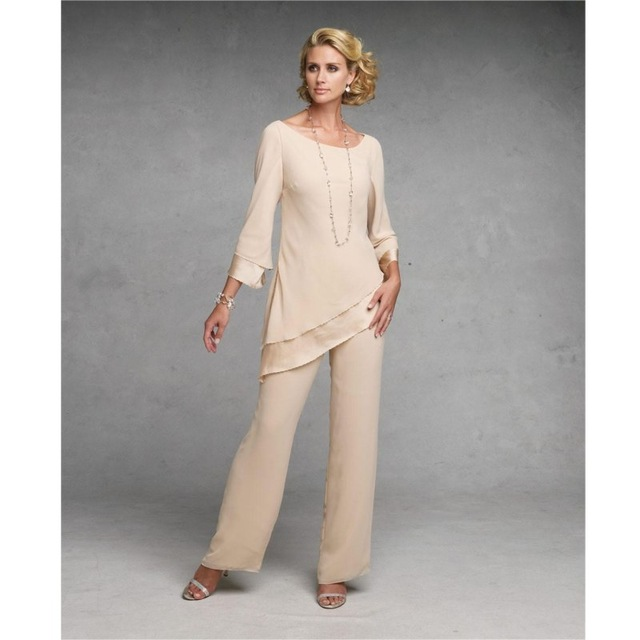 Customize mother of the bride dresses chiffon pants suit wedding ...