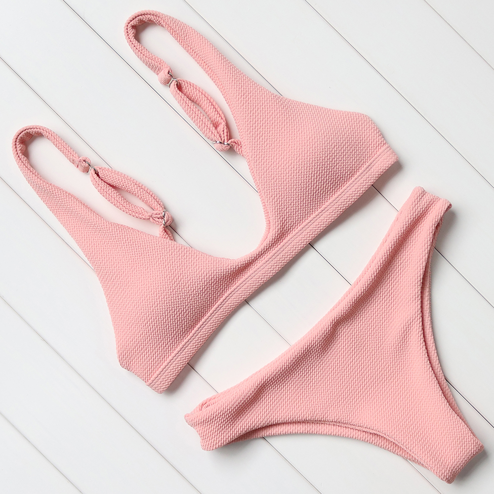 OMKAGI Soild Multi Color Bikinis Women Brazilian Bikinis Summer Adjustable Bandage Beach Bathing Suit  Women Swimwear Swimsuit