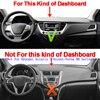 Car Inner Dashmat Dash Mat Dashboard Cover Pad Sun Shade Dash Board Cover Carpet For Hyundai Solaris 2 Accent Verna 2017 2018 review