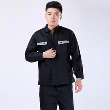 2 Piece Set Of Protective Working Clothes 2017 Loose Turn-down Collar Cotton Long Sleeve Clothing For Men Plus Size 4XL Hot Sale