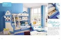 3333 Modern Children Furniture Wooden Children Bed Bunk Children Bed Double Deck Children Bed