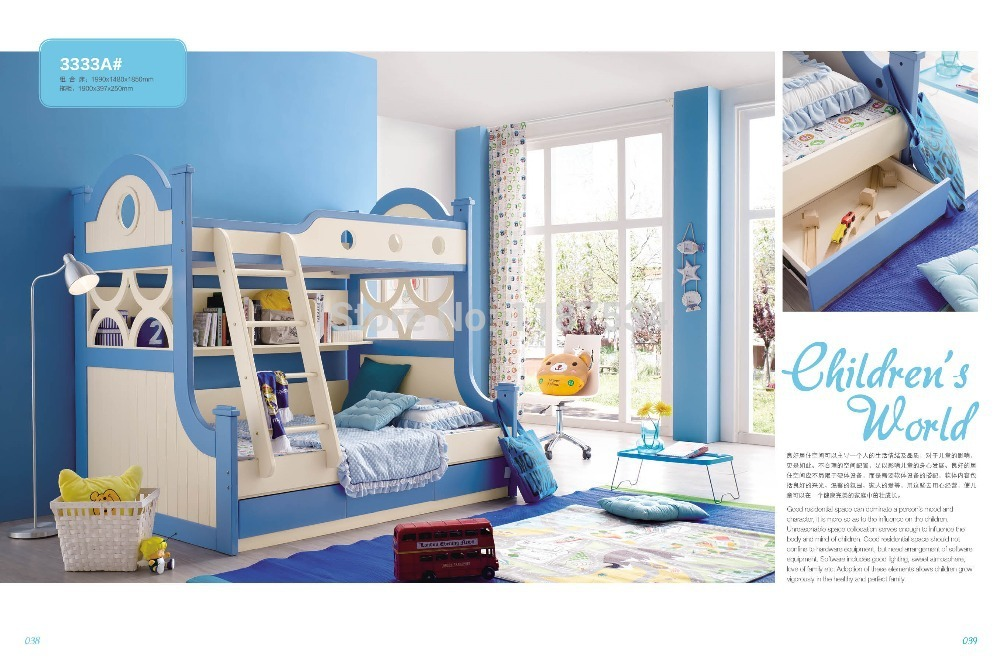 3333 Modern children furniture wooden children bed bunk children bed double deck children bed aingoo wooden double bed 4 8ft bed frame solid bedstead base queen size bed frame home furniture pine bed in wooden page 3
