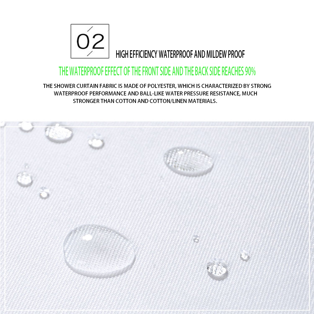 3D Anchor Beach Shower Curtain Bathroom Waterproof Polyester Printing Curtains for Bathroom Shower