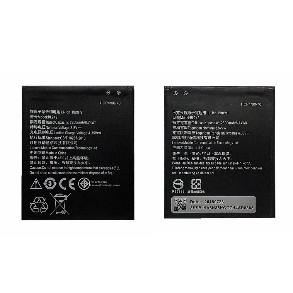 Da Da Xiong 3100mah Bl242 Battery For Lenovo A6000 A6010 A3860 A3580