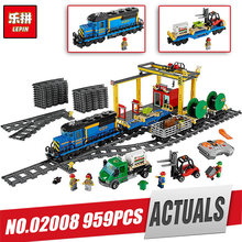 Lepin 02008 02009 02039 02087 City Series the Cargo Train Set Building Blocks Bricks 60052 RC Train Children LegoINly Toys Gift(China)