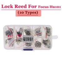 Free shipping (200pcs/box )Hu101 car lock reed locking plate for ford focus lock (each type 20pcs) Repair Kits
