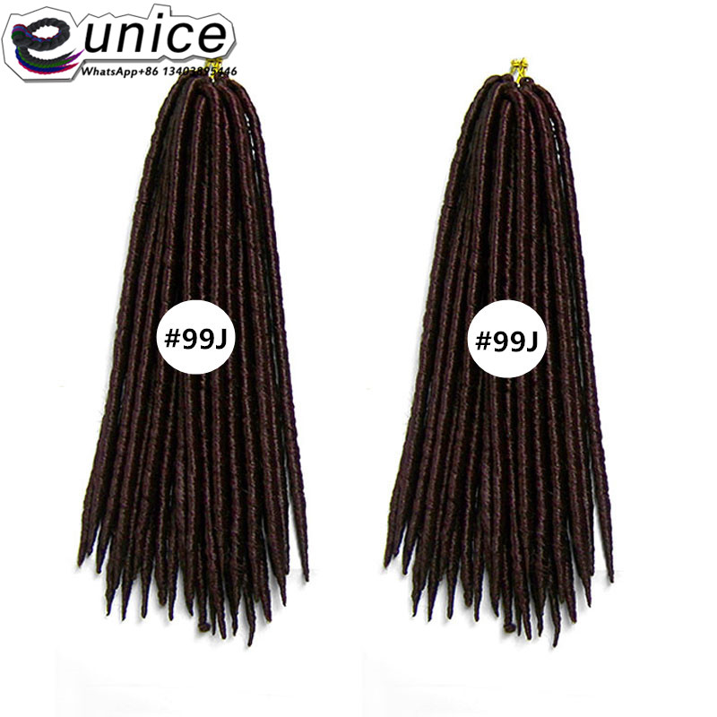 18inch Dreadlock Extensions 6pcs/lot Cabelo Sintetico Kanekalon Braiding Hair Colors Havana Mambo Twist Crochet Extension
