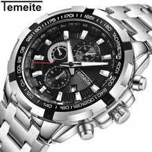 все цены на Brand Luxury Black Gold Male Watch Military Quartz Sport Wrist Watch Men Chronograph Waterproof Mens Watches Sport Wristwatch онлайн