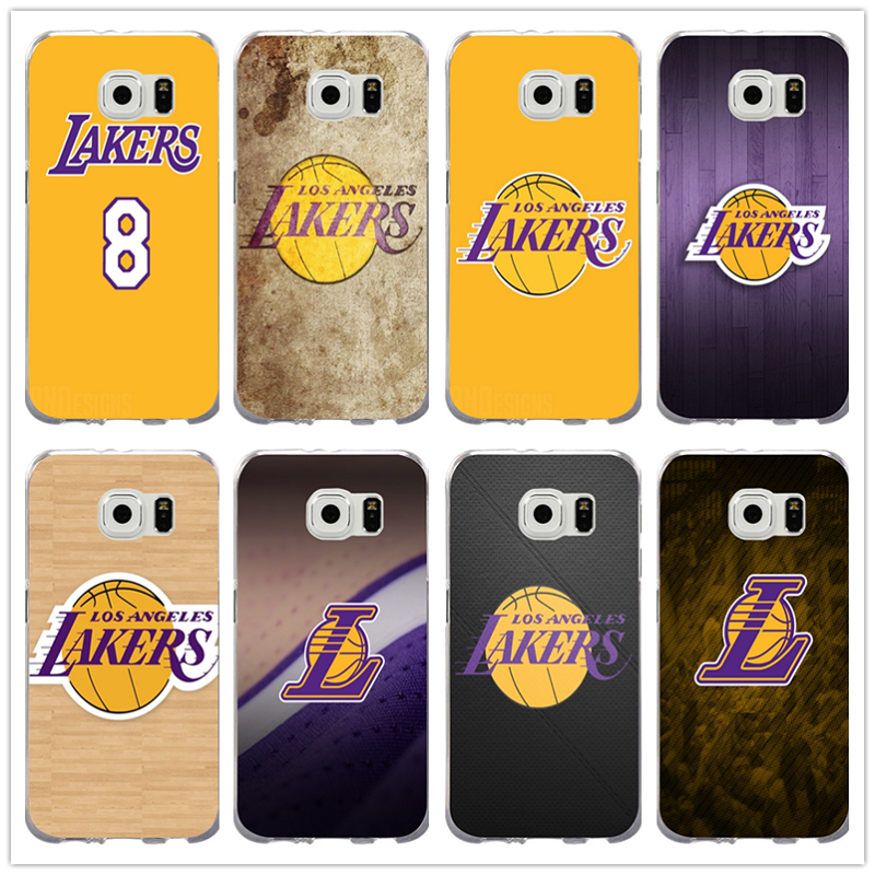 11499234f4f8a0 Angeles Lakers Basketball Team Logo Soft TPU Phone Cases for Samsung Galaxy  Note 2 3 4