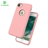 FLOVEME Luxury Silica Gel TPU Case For Apple IPhone 7 7 Plus Cover Ultra Thin Shell
