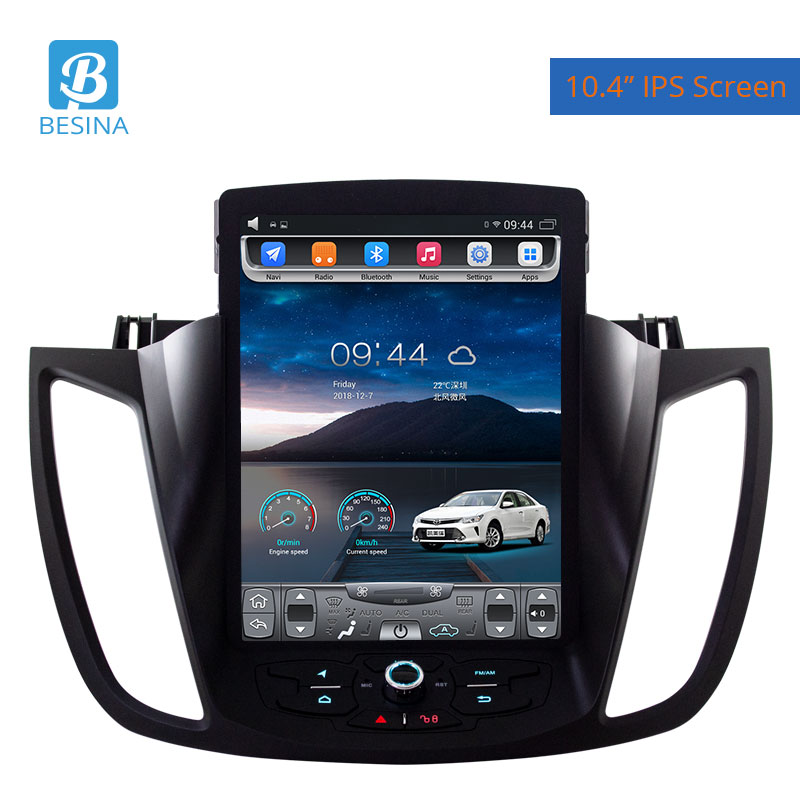 Besina 10.4 inch Android 6.0 Car Radio For Ford Kuga 2013-2016 Multimedia Player GPS Navigation 2G+32GHIFI Stereo Auto AudioBesina 10.4 inch Android 6.0 Car Radio For Ford Kuga 2013-2016 Multimedia Player GPS Navigation 2G+32GHIFI Stereo Auto Audio