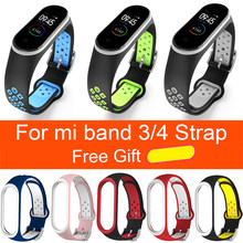 Correa Accesorios inteligentes reemplazo impermeable Para Xiaomi mi Band 4 doble Color silicona pulsera para mi Band4 NFC(China)