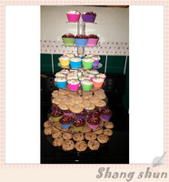 Free Shipping 7 Tier Crystal Clear Circle Acrylic Round Cupcake Stand Wedding Birthday Party Candy Display