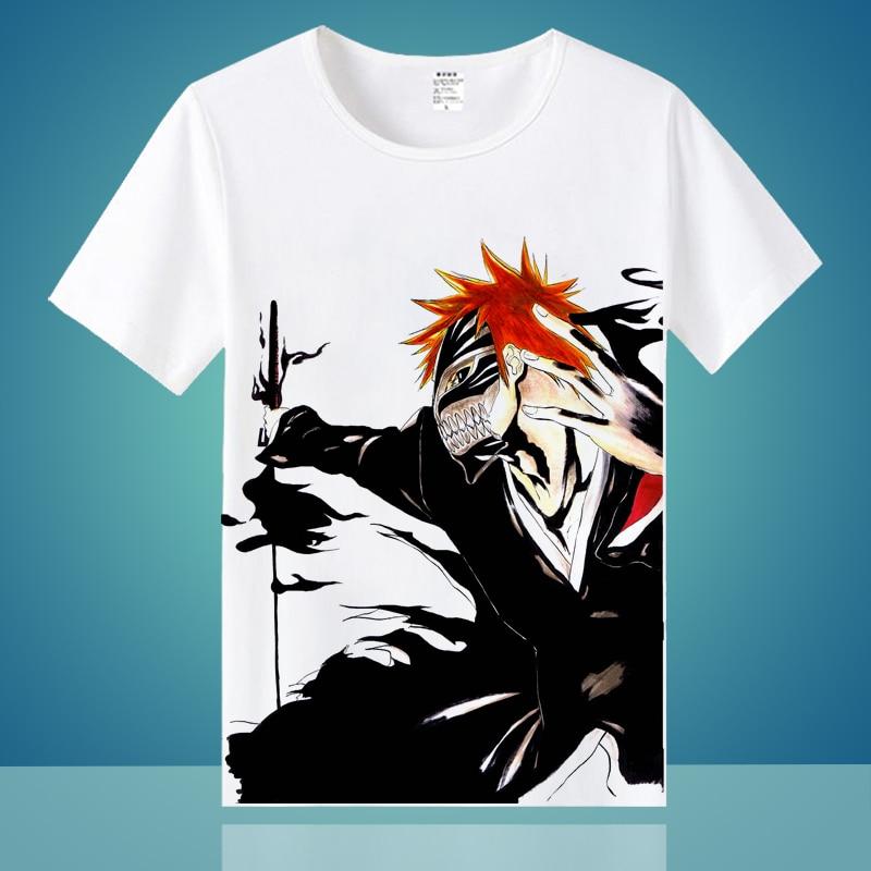 Bleach T Shirt Large Faded Japanese Anime Manga Ichigo Kurosaki Shonen Jump Men T Shirt Cheap Sale 1 Cotton Home